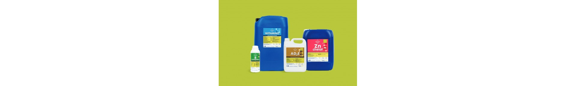 Płynne suplementy dla zwierząt gospodarskich. Witaminy, sole mineralne i aminokwasy